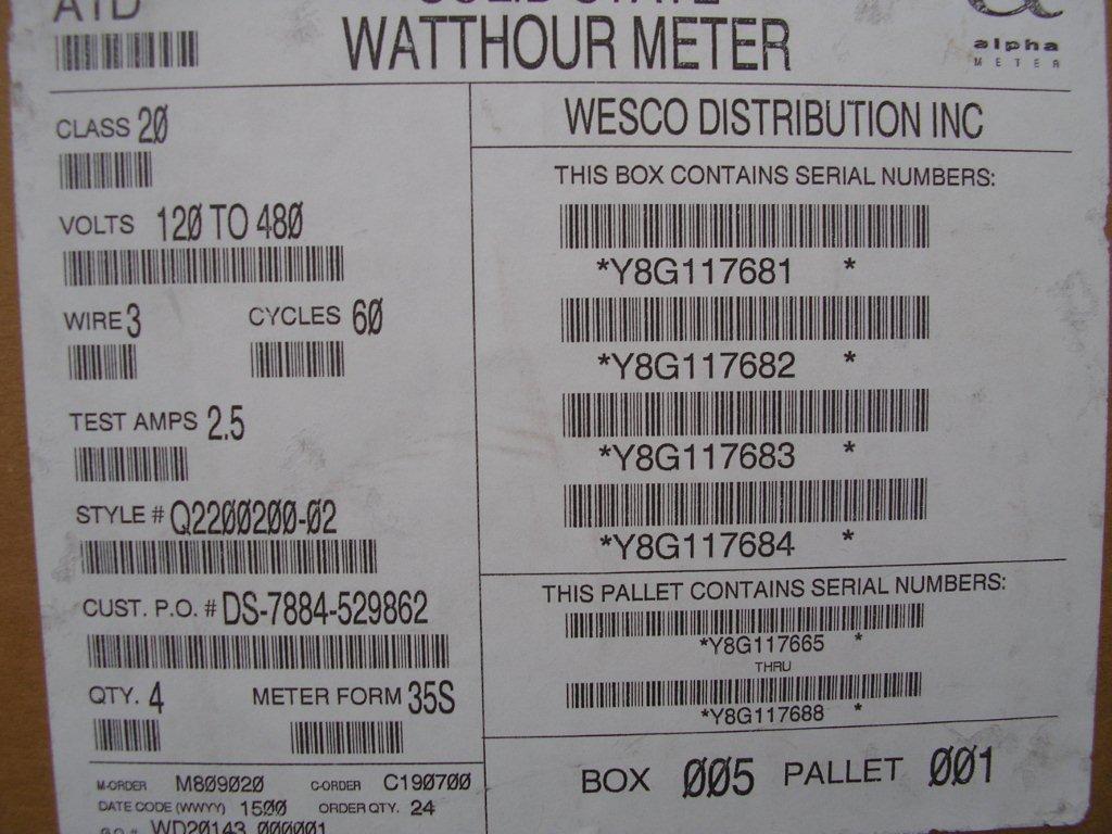 abb watthour meter kwh ab1 ez cyclone 4 lugs 240v 200a 8