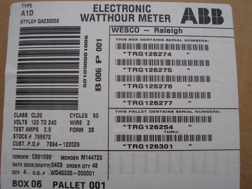 Ge- Electric Watthour Meter  Kwh