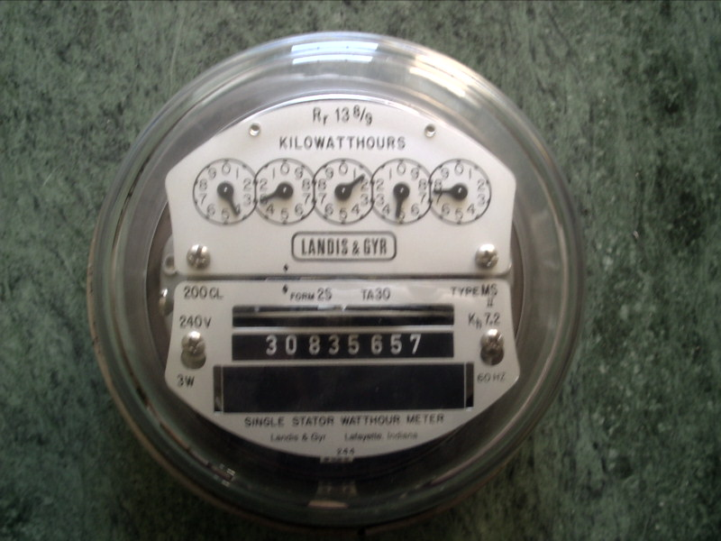 Types Of Electric Meters : Ge electric watthour meter kwh type i s fm
