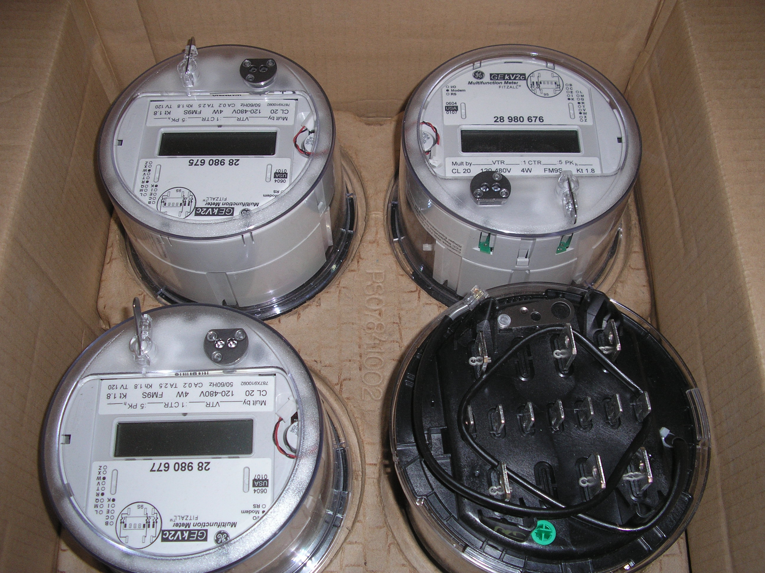 GE KV2C New SolidST 4Meter used electric meters ge kilowatt hour meter wiring diagram at alyssarenee.co