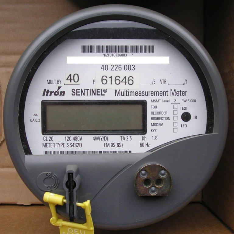 Itron SS4S2D Front 1 used electric meters itron sentinel meter wiring diagram at reclaimingppi.co